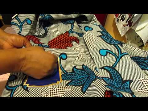 How to remove the sticker from the African fabric