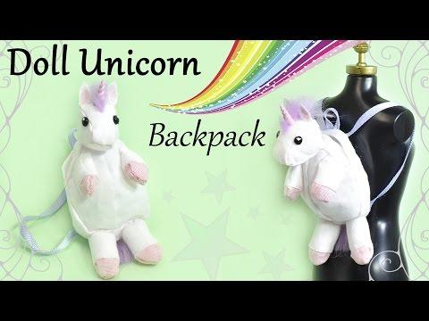 How To: Mini Unicorn Doll Backpack - Doll / Barbie Fabric Tutorial