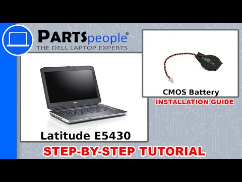 Dell Latitude E5430 (P27G-001) CMOS Battery How-To Video Tutorial