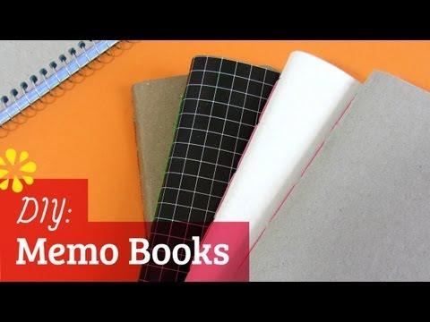 DIY Memo Notebooks | Saddle Stitch Bookbinding Tutorial | Sea Lemon