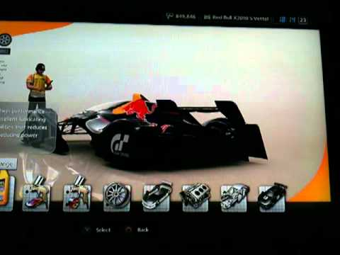 Change your oil after racing Gran Turismo 5 Hp of Red Bull x1 increase after oil change
