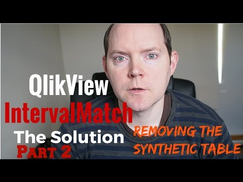 Removing a Synthetic Table from a QlikView IntervalMatch Example