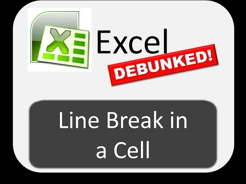 Line Breaks in a Cell -- Excel DEBUNKED