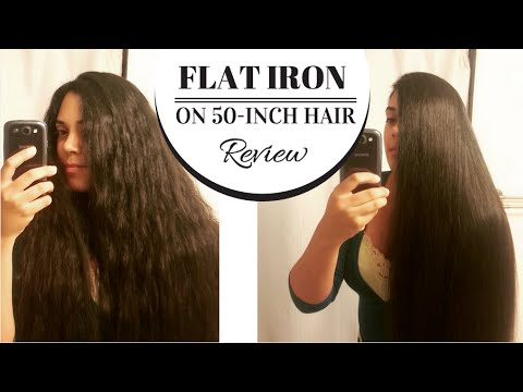 Straightening 4-foot-long hair (flat iron review) | Lucy's Corsetry