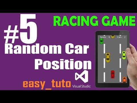 5 Random Car Positioning | Racing Game | Visual Studio | Beginners Full Tutorial HD