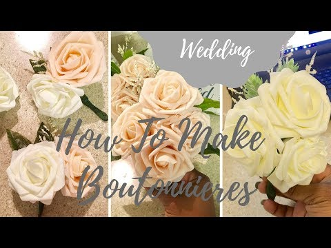 How to Make Faux Flower Boutonnieres | Grooms, Parents, Hostesses