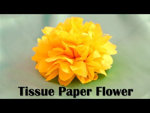 DIY Tissue Paper Flowers | Party Decorations | Paper Crafts | Little Crafties