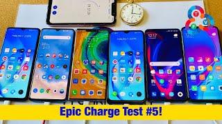 Realme X2 Pro vs OnePlus 7T vs Mate 30 Pro vs Mi 9T Pro vs Redmi Note 8 Pro - Epic Charge Test #5!