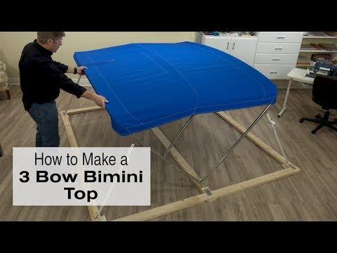 How to Make a 3 Bow Bimini Top