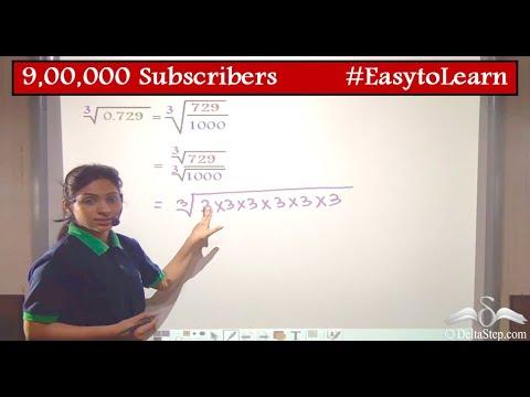 Cube roots of decimals