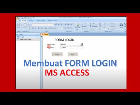 How To Create Form Login With Microsoft Access