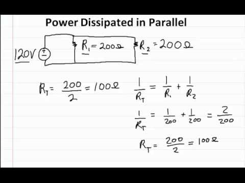Power Dissipated in Parallel