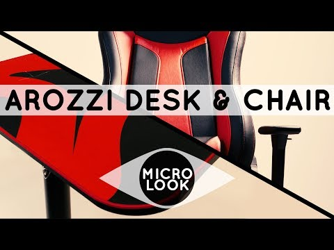 Arozzi Arena Gaming Desk & Vernazza Gaming Chair