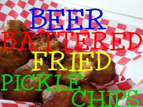 Beer Battered Fried Pickle Chips Recipe
