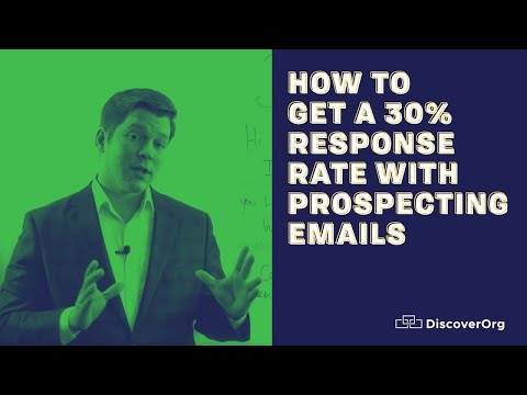 How to Get a 30% Response Rate With Prospecting Emails