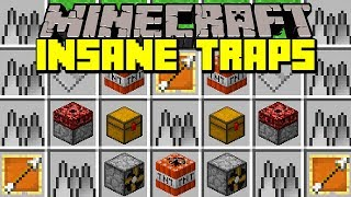 Minecraft INSANE TRAPS MOD! | DEADLY TRAPS, TROLLS, SPIKES & MORE! | Modded Mini-Game