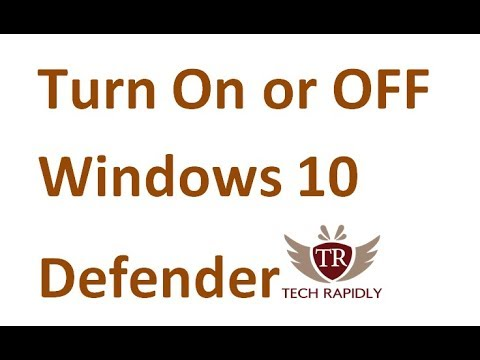 Turn Off Windows 10 Defender Permanently
