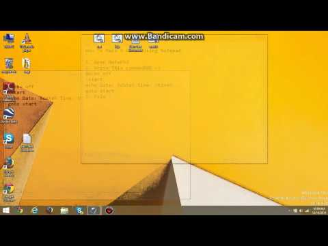 How To Make A Clock Using Notepad ./