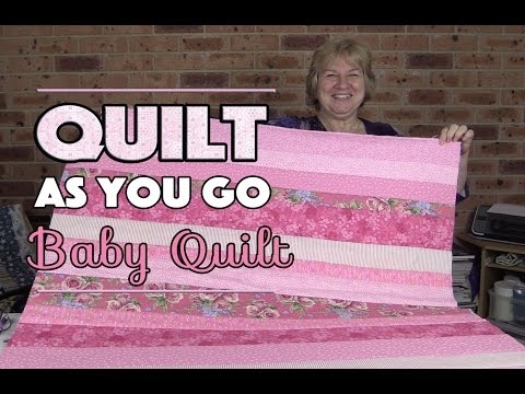 Quilt As You Go Baby Quilt: Quilting Tutorial