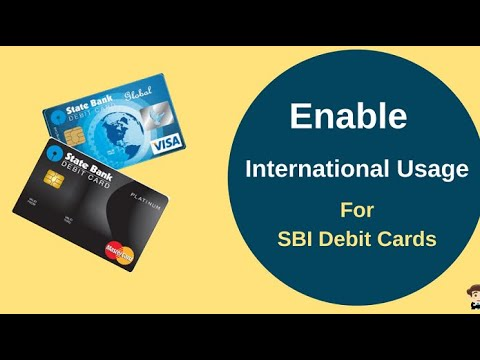 How to apply your SBI debit card for international charge