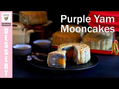 Purple Yam Mooncakes | Malaysian Chinese Kitchen