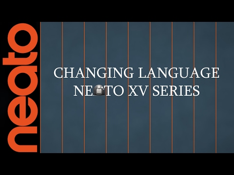How To Change The Language On Neato XV Series