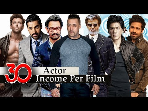 Bollywood Actors Salary - 30 Popular Highest Paid Bollywood Actor | Per Film Income |
