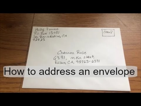 How to address\ fill out an envelope