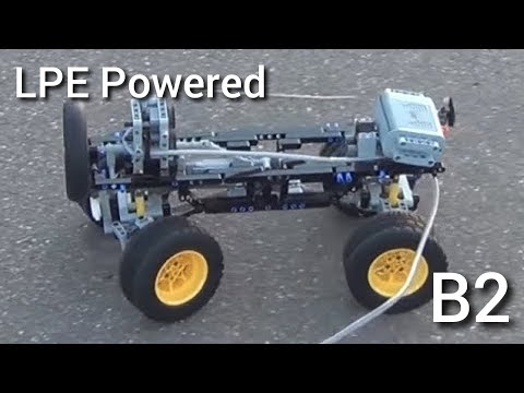 Lego pneumatic engine. First way of using. 2 cylinders
