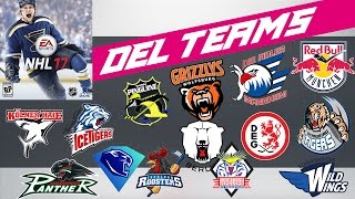 Alle DEL Teams, Trikots und Spielerstärken   NHL 17 #002