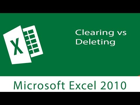 Excel : Clearing vs Deleting Columns & Rows | Delete Key