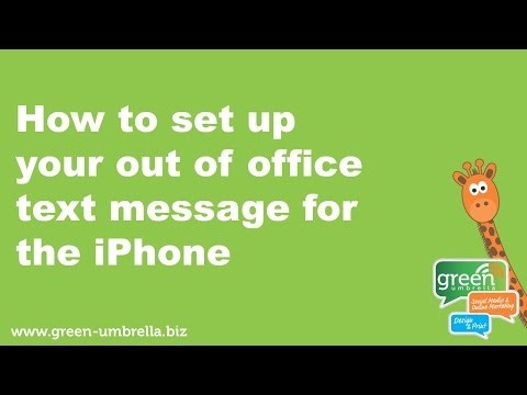 How to Set up Your Out Of Office Text Message for the IPhone