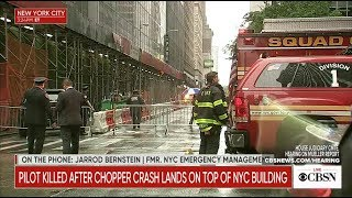 BREAKING NEWS: Helicopter crashes into into Midtown Manhattan building, live stream