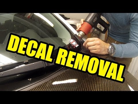 How to remove decals from your windscreen