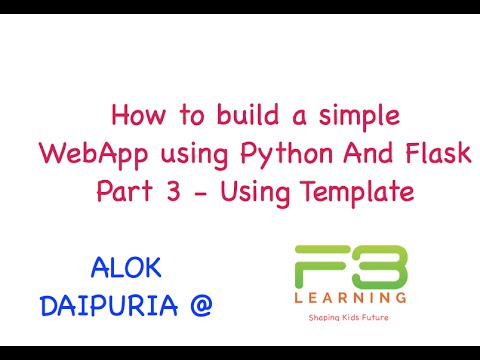 Build Web App With Python And Flask Part 3 - Using Templates