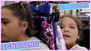 IGNORING A 10 YEAR OLD  FOR 24 HOURS !!! | SISTER FOREVER