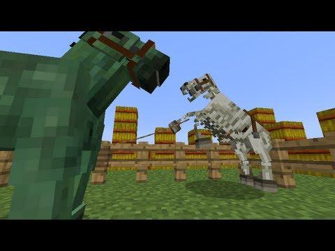 MineCraft 1.6 SnapShot: Zombie Horse Armor, Skeleton Horse 13w21a!