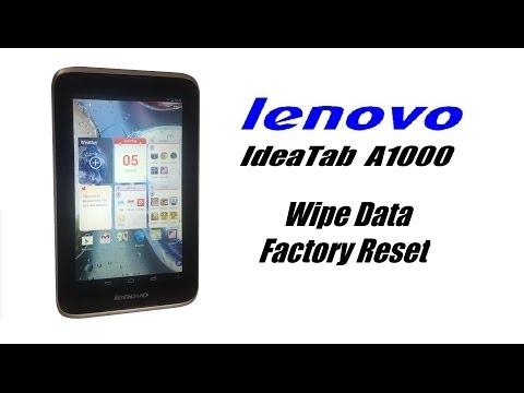 lenovo IdeaTab A1000 Hard Reset, Wipe Data / Factory Reset, Password, Screen Lock Reset, Unfreeze