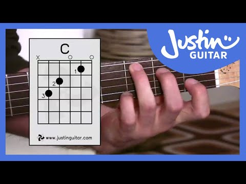 C Chord - Guitar For Beginners - Stage 3 Guitar Lesson - JustinGuitar [BC-132]