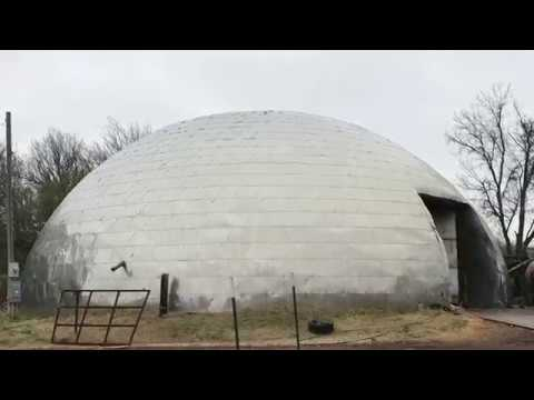 Concrete Dome Building Structure with Stainless Steel Skin on Route 66