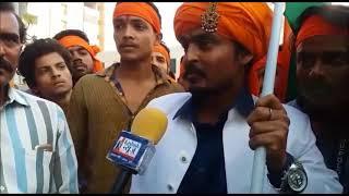 भागलपुर में फिल्म पद्मावती के विरोध में सड़क पर उतरे सैकड़ों लोग
