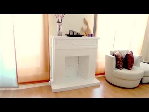 DIY CRAFTS: Decorative cardboard fireplace - Isa ❤️