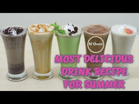5 Easy Homemade Ice Cream Milkshakes II Healthy Summer Drinks