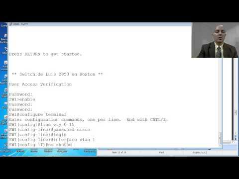 CS071 08.10 Switch Cisco - Configuración del acceso Telnet