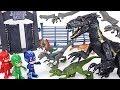Jurassic World 2 Fallen Kingdoms Dinosaur Indoraptor Appeared PJ Masks Transform DuDuPopTOY