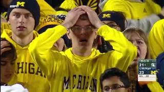 Michigan State Wins on Mishandled Michigan Punt