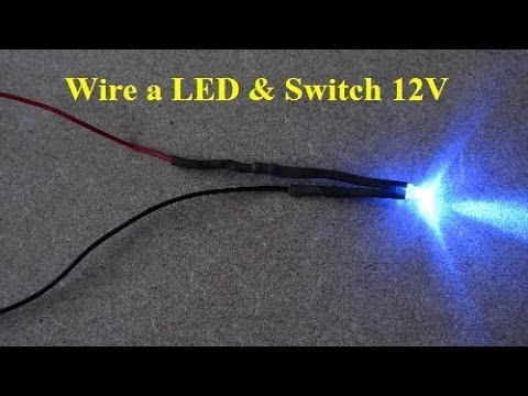 DIY How to Solder a LED and Wire Rocker Switch 12v ไฟเส้น led