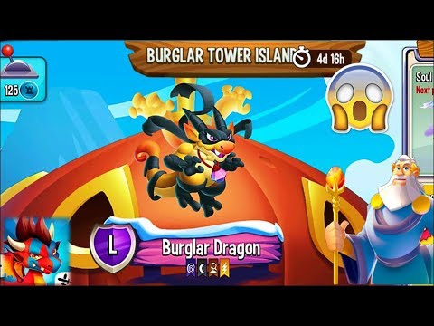 BURGLAR TOWER ISLAND All Dragons COMPLETE Gameplay | Dragon City