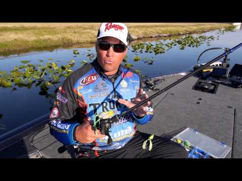 Bass Fishing: How to catch big bass using Hollow Body Frogs with Scott Martin