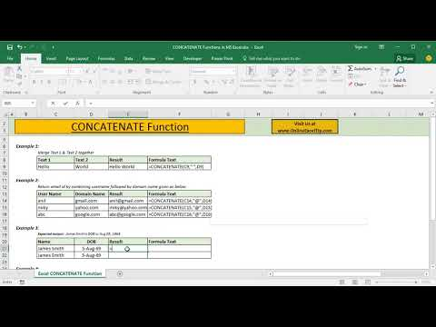 How to Combine Text with Date or Time in Excel